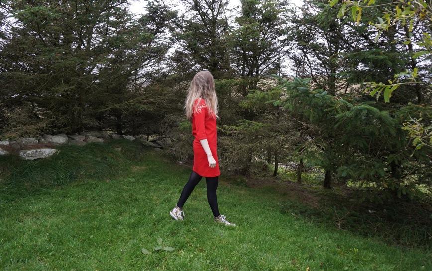 Red Jersey Dress side