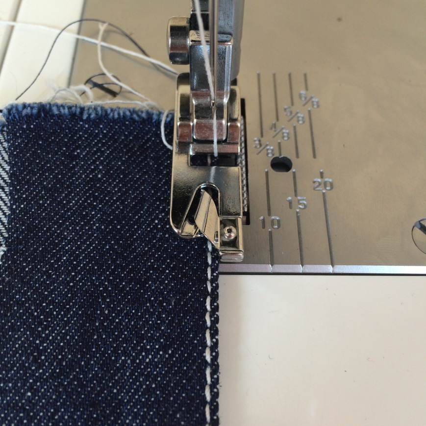 Making Jeans Topstitching