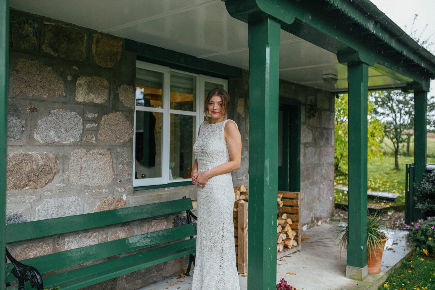 Lace Knit Wedding Dress