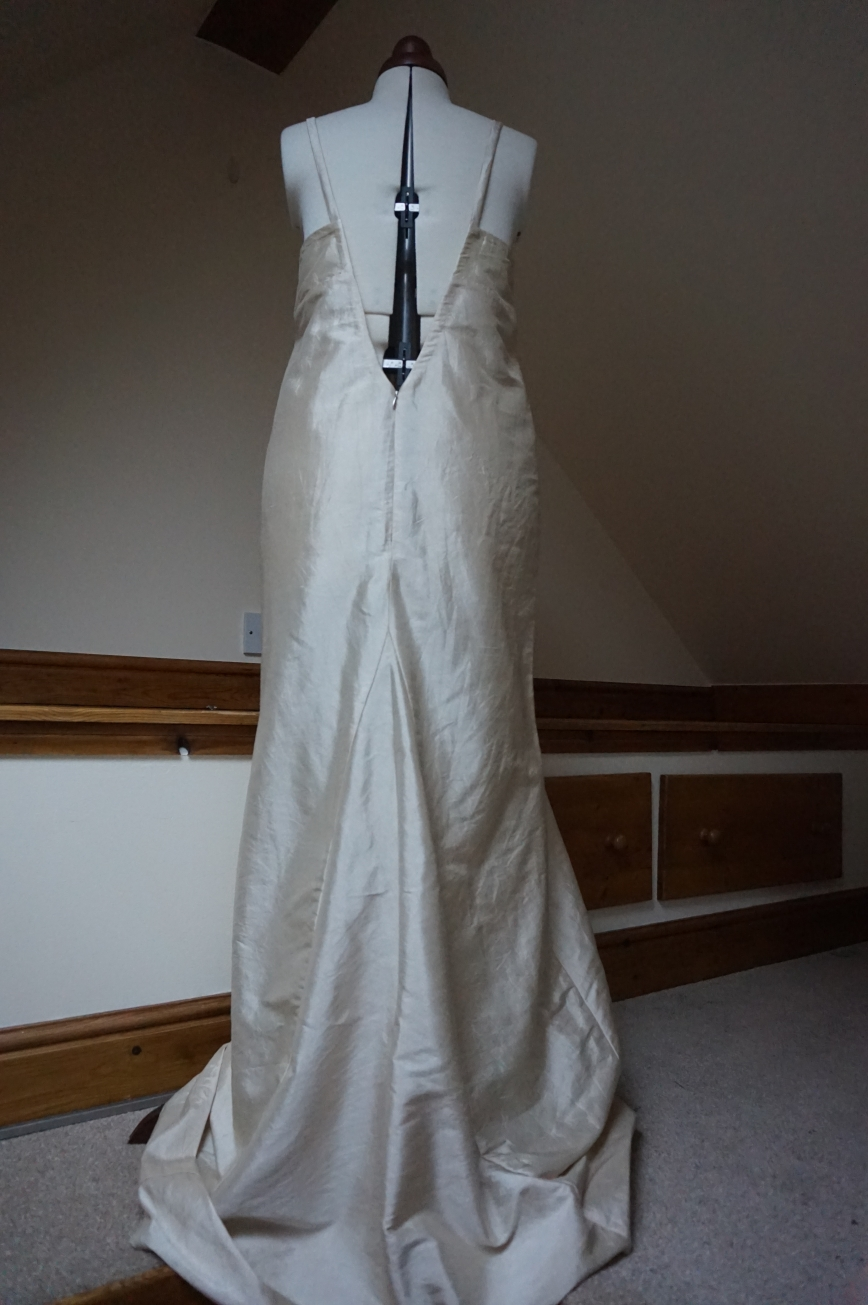 Handmade Silk Wedding Dress