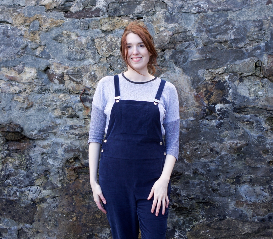 Dungarees designed and made by Attie and Dora