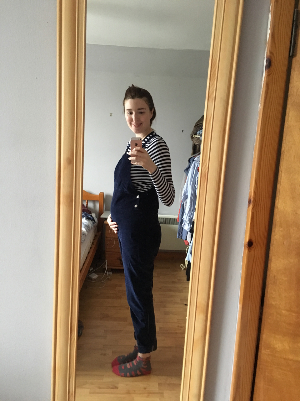 Self Drafted Maternity Dungarees